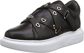 Love Moschino Sneakers da Donna in Pelle di Vitello, Scarpe da Ginnastica