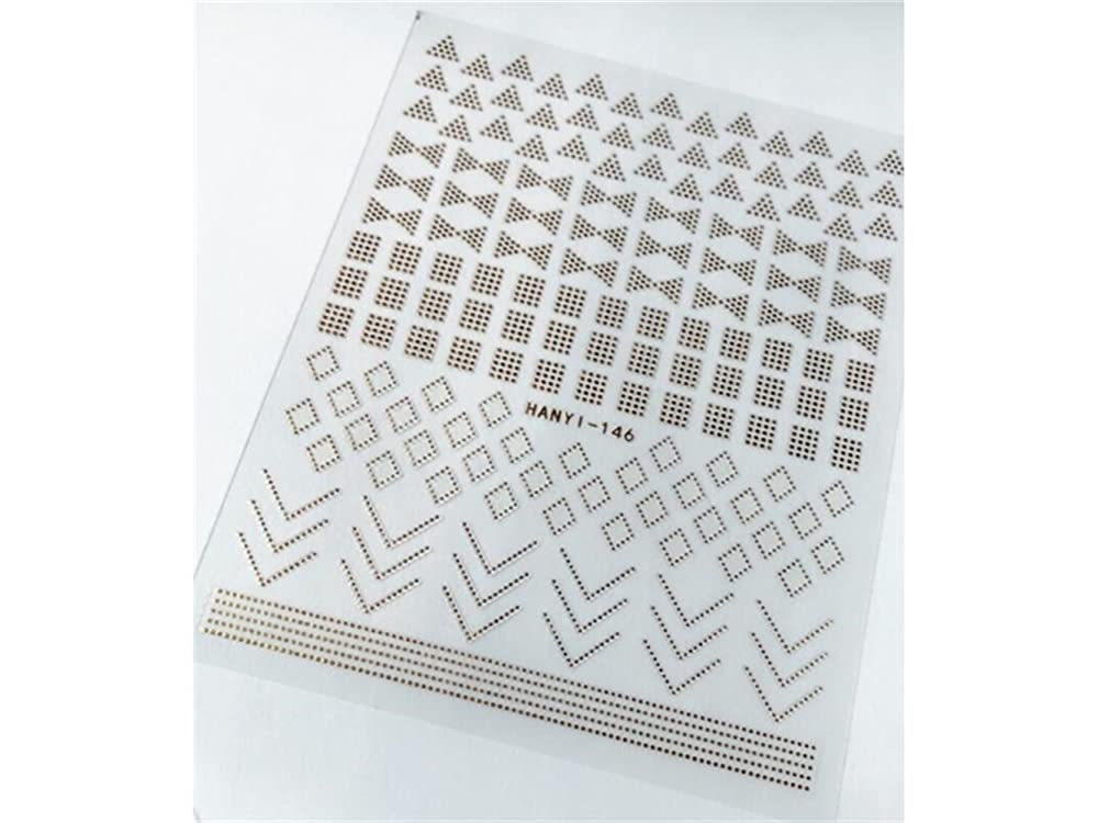 スペアクリープケントOsize ファッションカラフルなフラワーネイルアートステッカー水転送ネイルステッカーネイルアクセサリー(ゴールデン) (色 : Golden, サイズ : 9x14.5cm)