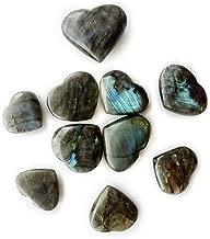 AMOYSTONE Labradorite Heart Shaped Chakra Stones Healing Crystal Holistic Balancing Polished 10 Pcs Wholesale