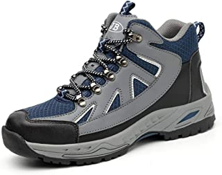 JXY Steel Toe Work Shoe Breathable Safety Shoes for Men and Women Comfortable Footwear