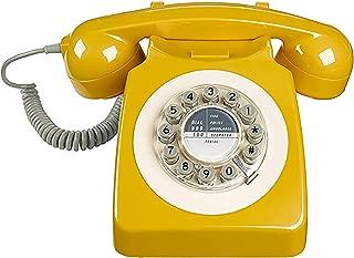 Rotary Design Retro Landline Phone for Home (Renewed)