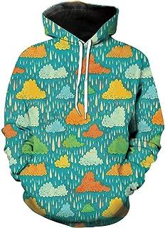 Unisex Hoodie 3D Print Home Funk Rain Sherpa Lined Fleece Sweatshirt Size XS