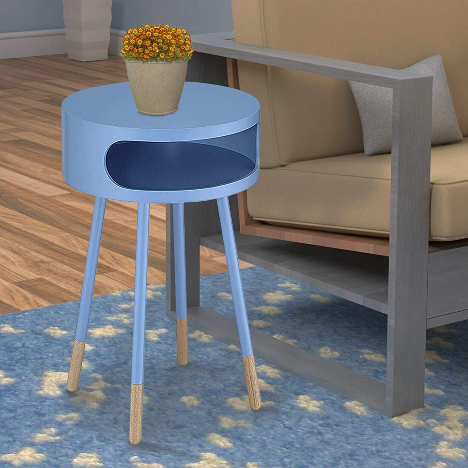 Ferrin 4 Long Beach Mall Leg End Table with Storage Animer and price revision x W 26'' 16'' H Overall: