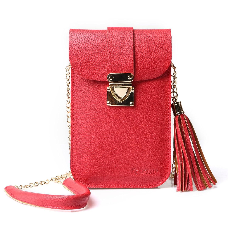 胴体拾う安心小さなクロスボディバッグ、カードが収納 携帯電話の財布、女性用ポーチウォレット