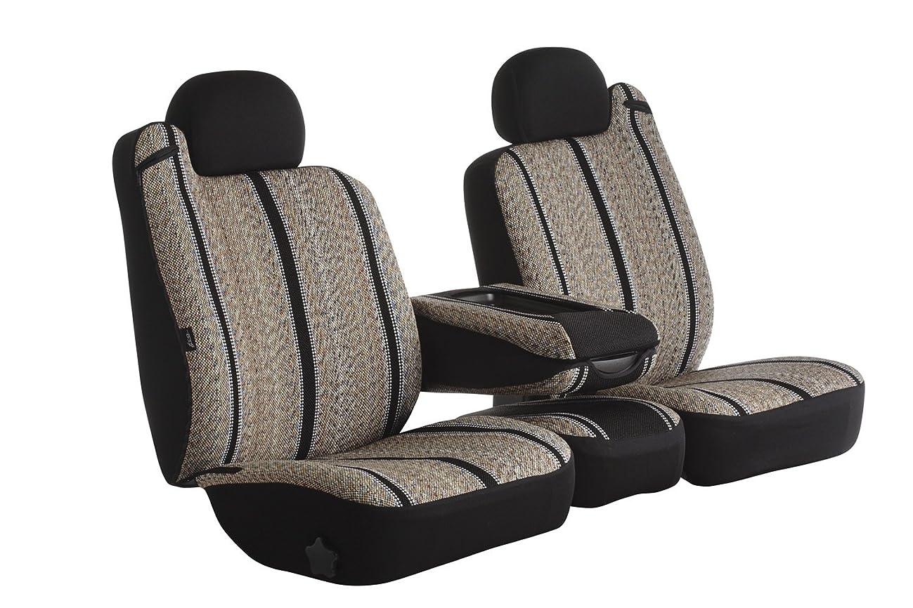 Fia TR48-23 BLACK Custom Fit Front Seat Cover Split Seat 40/20/40 - Saddle Blanket, (Black)