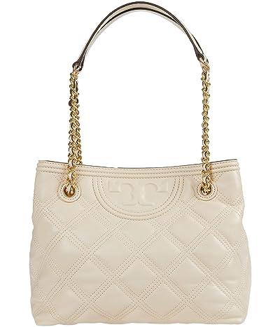 Tory Burch Fleming Soft Tote (New Cream) Handbags