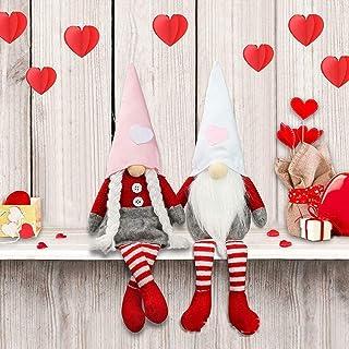 Sponsored Ad - Valentines' Day Ornament Decor, Handmade Scandinavian Plush Tomte for Valentine`s Day Table Ornament Presen...