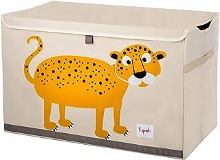 3 Sprouts - Coffre à jouets pour enfants - Coffre de rangement pour la chambre des garçons et des filles, Léopard