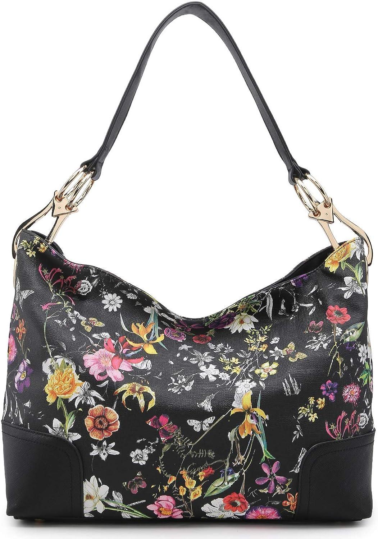 Dasein Women Hobo Bags Shoulder Handbags Hobo Purses Big Hook Hardware and Wide Strap