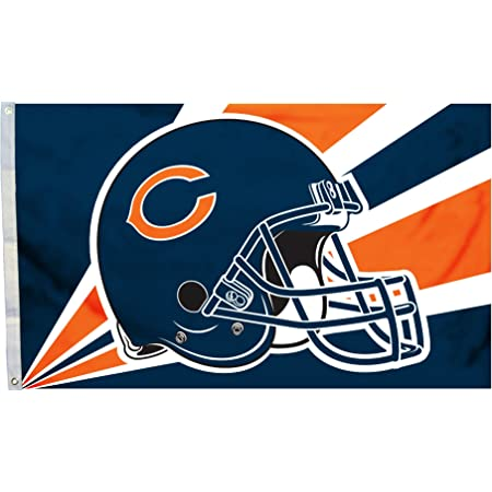 Chicago Bears and San Francisco 49ers Helmets Divided Flag 3x5ft
