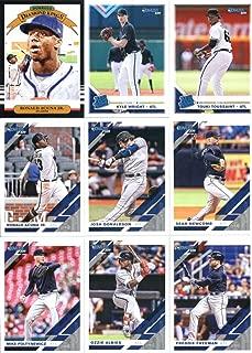2019 Donruss Baseball Atlanta Braves Team Set of 14 Cards: Ronald Acuna Jr.(#16), Kyle Wright(#44), Touki Toussaint(#50), Ronald Acuna Jr.(#87), Josh Donaldson(#91), Sean Newcomb(#117), Mike Foltynewicz(#135), Ozzie Albies(#156), Freddie Freeman(#175), Nick Markakis(#177), Johan Camargo(#206), Arodys Vizcaino(#212), Kolby Allard(#230), Bryse Wilson(#238)