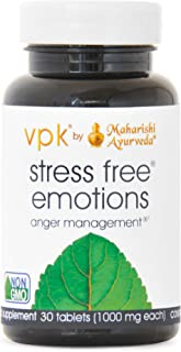 Stress Free Emotions | 30 Herbal Tablets - 1000 mg ea. | Anger Management™ | Natural Support for Stress Relief & Emotional Highs & Lows