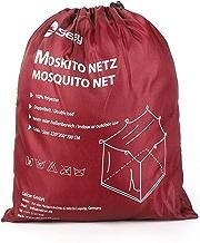 Sekey - Mosquitera grande para cama doble con forma de caja, 220x 200x 200cm, malla antiinsectos, de instalación rápida y fácil