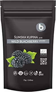 Bobica's Premium European Organic Freeze Dried Wild BlackBerry Powder | from Frozen Blackberries | Antioxidant Superfood |...