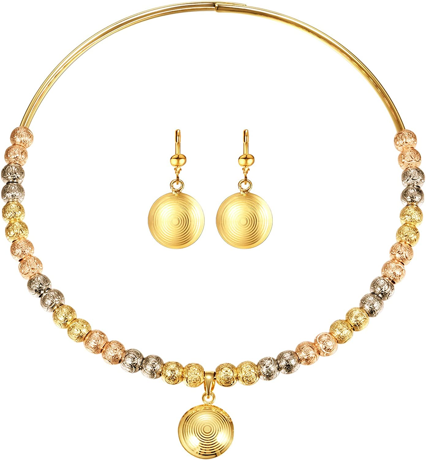 4 Sale price years warranty FOCALOOK Indian Traditional Jewelry Set 18K for Gold Women Plate