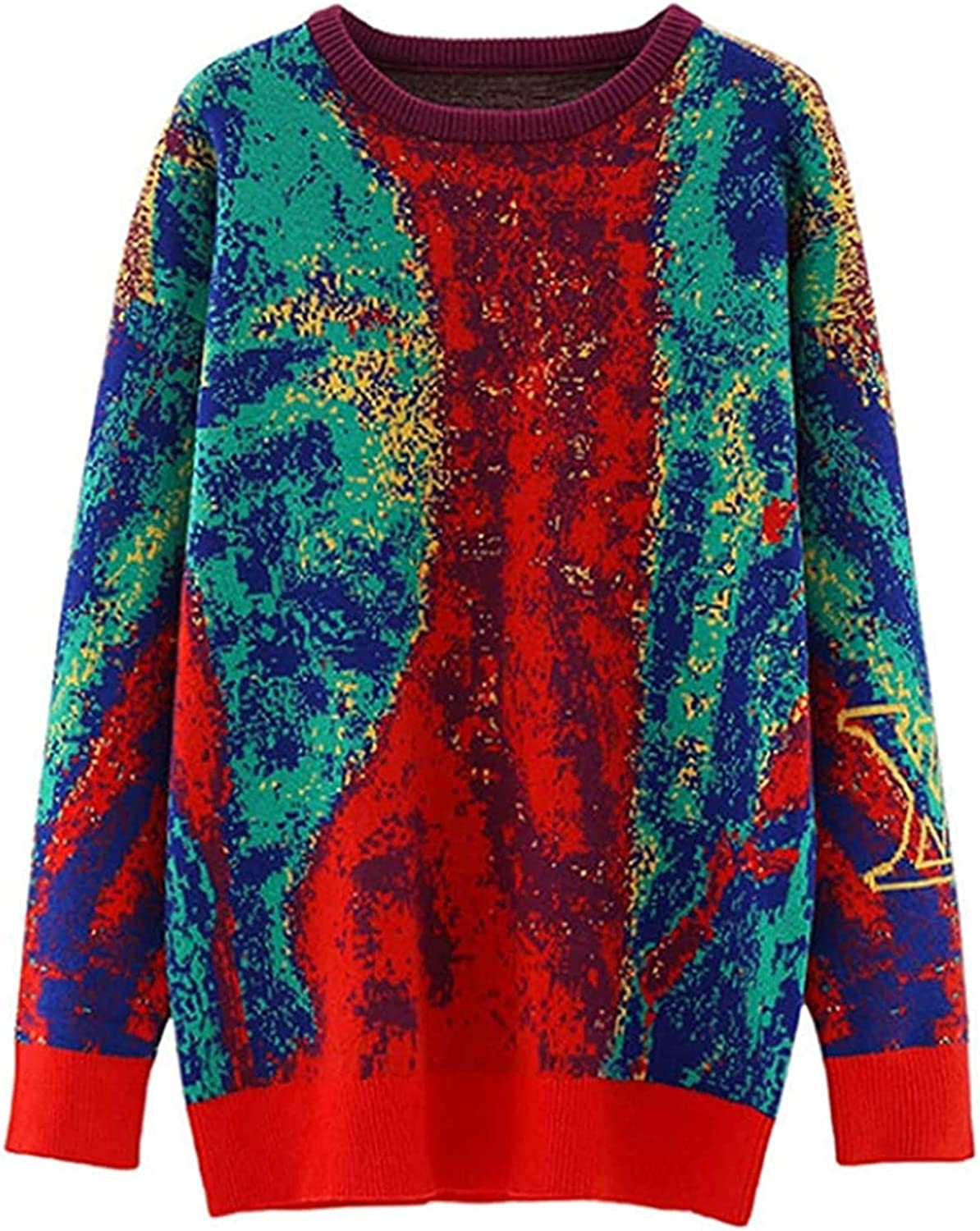 Nanoki Printed Colorful Knitted Women Same day shipping Max 81% OFF Streetwear Sweater Outwear