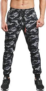 KaiDi Men's Drawstring Classic Camo Joggers Pants Zipper Pockets Sport Sweat Pants