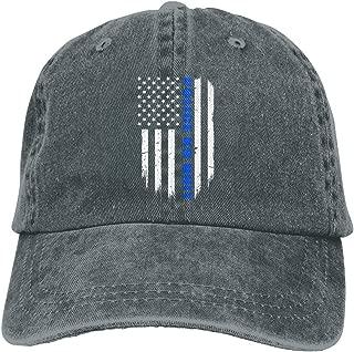 Sajfirlug Police K9 Unit Thin Blue Line Flag Fashion Adjustable Cowboy Cap Baseball Cap for Women and Men