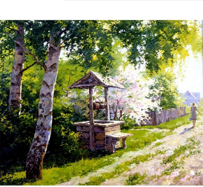 Waofe  Rahmen Bauernhof Diy Diy Diy Malen Nach Zahlen Landschaft Handgemaltes Ölgemälde Modern Home Wandkunst Bild Einzigartiges Geschenk 40X50 Cm B07PNVH6HL   Neuer Eintrag  5a1ce6