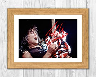 Good With Wood Yorkshire Eddie Van Halen 2 Reproduction Autograph photogragh Picture Poster A4 Print  (White Frame)
