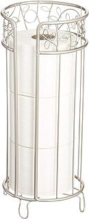 iDesign Twigz Free Standing Toilet Paper Holder, Spare Roll Bathroom Storage - Satin
