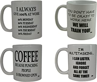 Funny Coffee Mug Gift Set Work Office Novelty Cup Great Gift Idea For Employee Boss Coworker