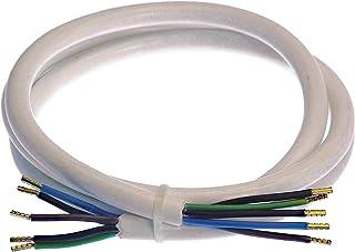 as-Schwabe 70868 炉具连接电缆 3 米 H05VV-F 5G2.5 白色 室内使用 IP20