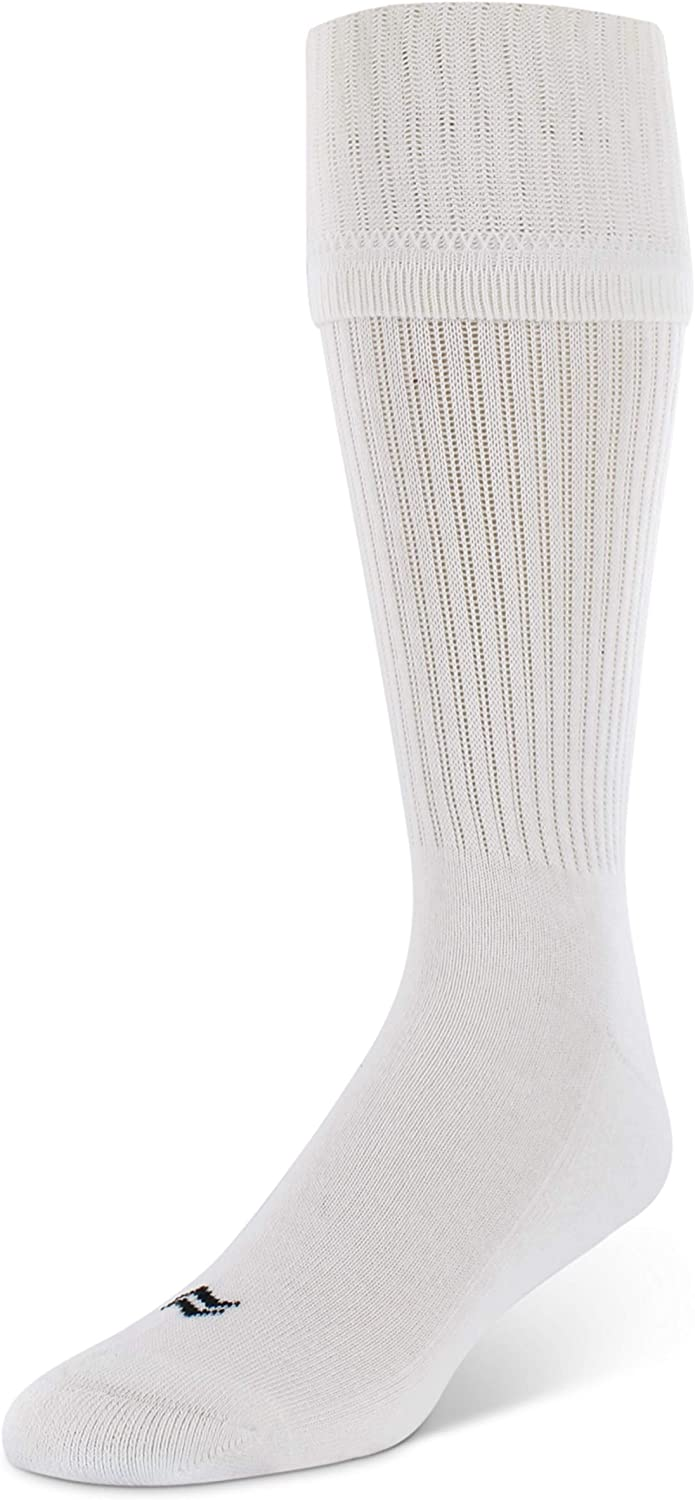 Sof Sole Football Over-the-Calf Team Athletic Performance Youth Socks (2 Pair), Child 9-Youth 1, White