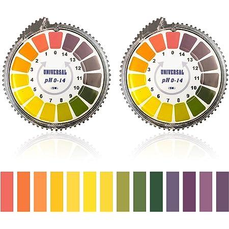 JIACUO 80 bandelettes pH alcalin Courte port/ée 0,5-5,0 indicateur bandelettes de Test de pH Papier Tournesol