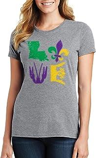 Threadrock Women's Mardi Gras Love T-Shirt