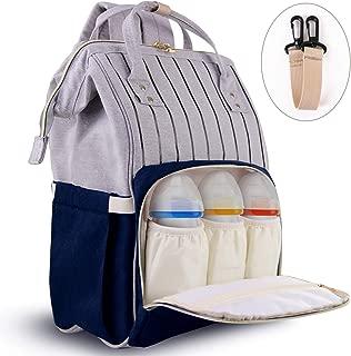 SXSHYUFC Multifuncional Mochila Pa/ñales Maternal Bolso Carro Beb/é Mochila Carrito Bebe Impermeable y Puerto de Carga USB 18 27 42cm Gran Capacidad