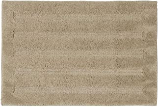 Seavish Luxury Khaki Bath Rug, 19.5 X 31.5 Inches Striped Shaggy Bathroom Rugs,Non Slip Dry Fast Water Absorbent Machine W...