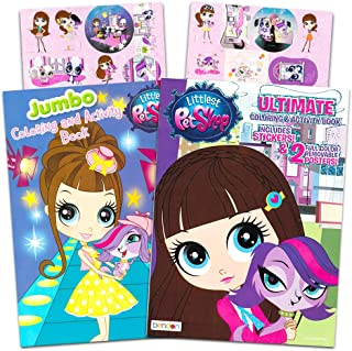 Littlest Pet Shop Coloring Book Super Set -- 2 Coloring Books, Over 80 Stickers and 2 Posters