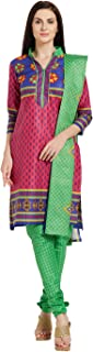 Florence Women's cotton straight Salwar Suit Set (SB-3440-Aug2019_ Pink_ One Size)