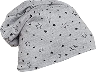 Vimal Jonney Grey Printed Cotton Blended Free Size Beanie Cap For Men-CAP_PRT-NO.1-MLG_01