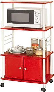 SoBuy® Carrito de cocina estante de cocina estante con ruedas estantería de cocina FRG12-RES