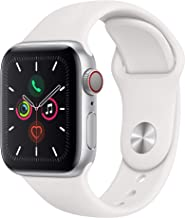 Apple Watch Series 5  - Silver Aluminum Case with White Sport Band