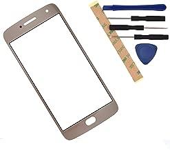 XT1684 Front Glass Screen Replacement for Motorola Moto G5 Plus XT1685 XT1687 XT1686 (Gold)