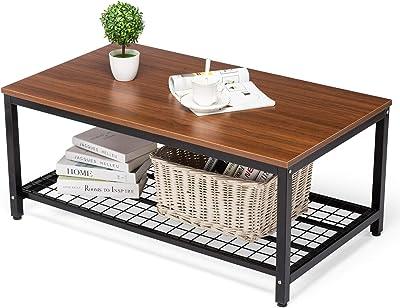 Amazon.com: Homfa Mesa de café industrial para salón, mesa ...