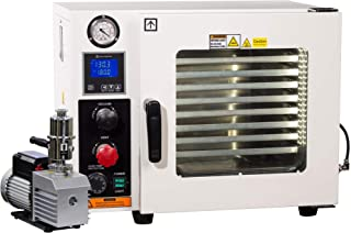 Across International AT09v.110 Ai AccuTemp Vacuum Oven with 9 cfm Dual-Stage Pump and Fittings, 5 Sided Pad Heating, 0.9 cu. ft.