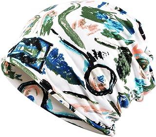Glamorstar Printed Beanie Chemo Hat Slouchy Cotton Stretch Turban Scarf