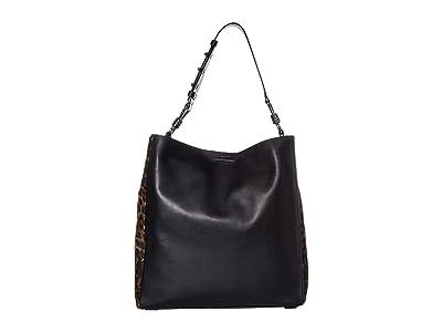AllSaints Kim North/South Tote (Black) Handbags