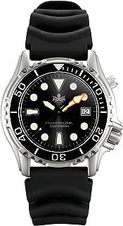 Phoibos PX005C Men Diver Watch Swiss Quartz Black