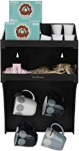 Mind Reader COWMNT-BLK Commercial, Coffee Condiment Organizer with 4 Hooks, One Size, Black Wall Mount