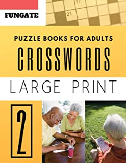 Crossword Puzzle Books for Adults: Fungate Word Game Easy Quiz Books for Beginners (Crossword Large Print)