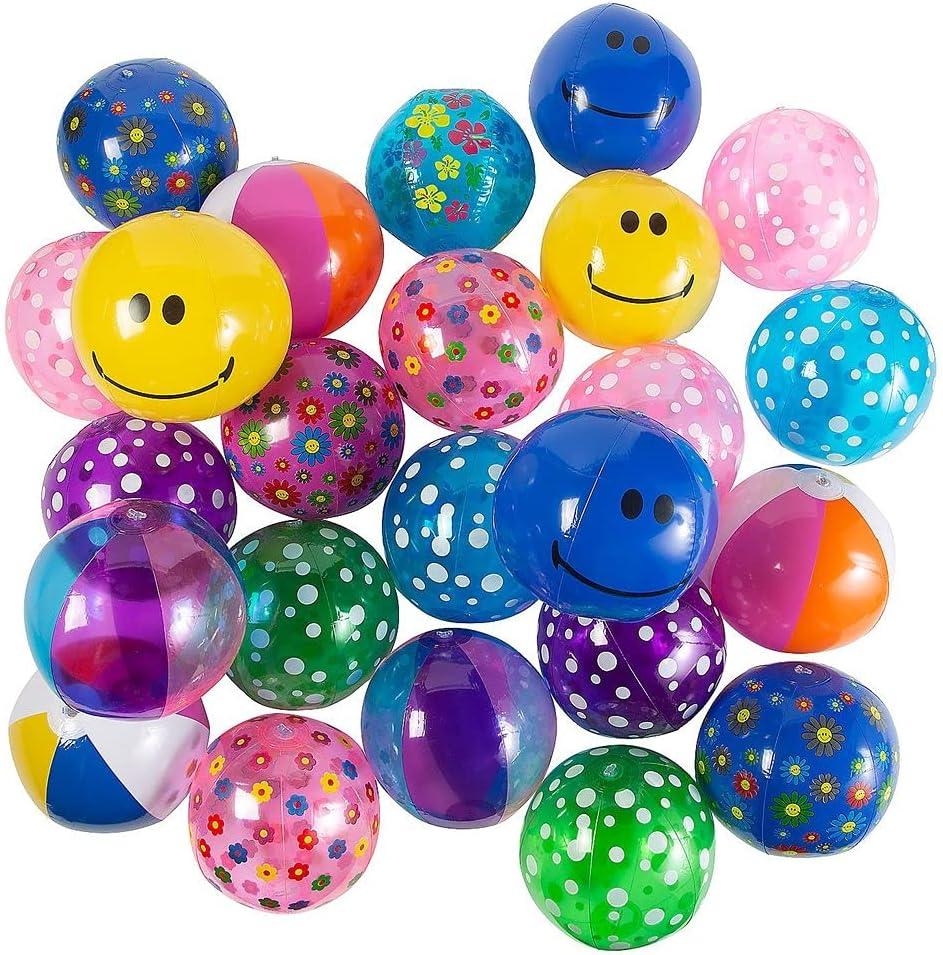 Ojis Cheap mail order sales Ecart Max 40% OFF Medium Beach Ball 100 Pc Assortment -