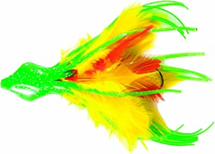 No Alibi DD-5-14 Dolphin Delight, 4-1/2-Inch, 1/4-Ounce, Rigged, Green/Yellow/Red