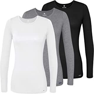 Adar Underscrubs for Women 3 Pack - Long Sleeve...