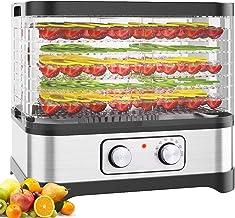 GWFVA Déshydrateur d'aliments avec minuterie numérique et contrôle de la température 8 Plateaux pour déshydrateur électriq...