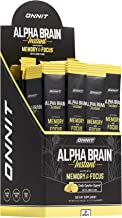 Sponsored Ad - ONNIT Alpha Brain Instant - Meyer Lemon Flavor - Nootropic Brain Booster Memory Supplement - Brain Support ...